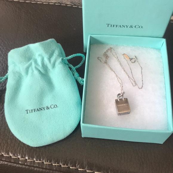 a0232f783 Tiffany & Co. Jewelry | Tiffany Co Shopping Bag Necklace | Poshmark